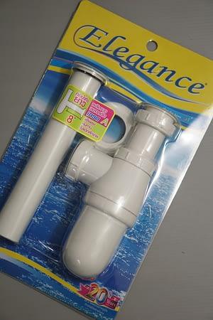 """ท่อชาร์ปน้ำทิ้ง PVC ขาว 8"""" Elegance EG5698"""