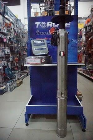 ชุดปั๊มบาดาลบ่อ3″ Torque 1″ 0.5HP