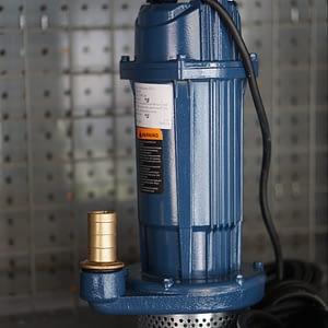 """ปั๊มแช่เหล็กหล่อ 1"""" 0.5 HP Blue Pump QDX-A"""