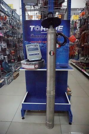ชุดปั๊มบาดาลบ่อ4″ Torque 1.1/2″ 1HP