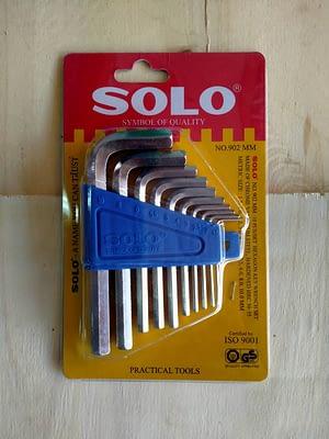 ประแจหกเหลี่ยม SOLO #902 10ตัว/ชุด