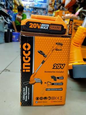 เครื่องตัดหญ้าไร้สาย INGCO SET CGTLI20301
