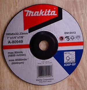 """แผ่นเจียหนา Makita 7""""*6mm A-80949"""